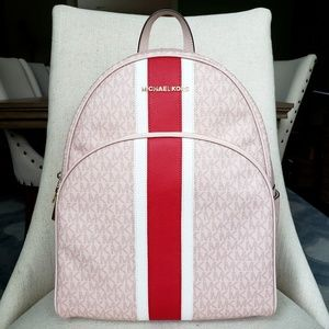 NWT Michael Kors LG Abbey backpack Bag Ballet Pink
